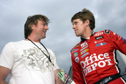 Country singer Darryl Worley and Carl Edwards