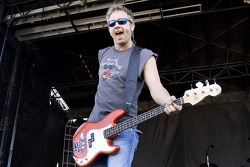 Todd Harrell, bass player for 3 Doors Down, performs