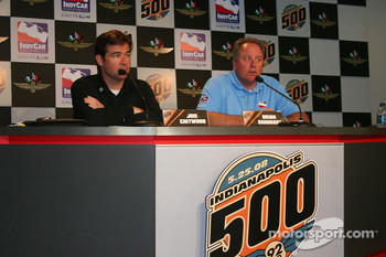 Joey Chitwood and Brian Barnhart announce the new schedule for the Freedom 100 race