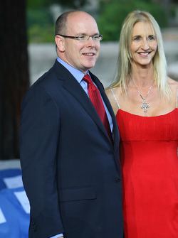 Prince Albert II of Monaco with Sonia Irvine