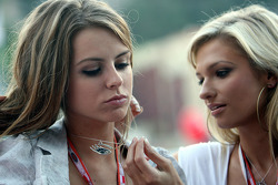 Girls at the Red Bull Energy station