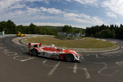 Romain Dumas does a demo run in the Porsche RS Spyder on the legendary Nordschleife