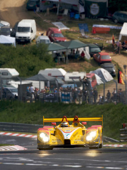 Timo Bernhard does a demo run in he Penske Racing Porsche RS Spyder