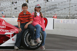 A couple of young Scott Dixon fans