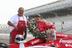 Chucky the paper guy presents Scott Dixon the morning paper