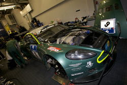 #6 Aston Martin DBRS 9 in the garage