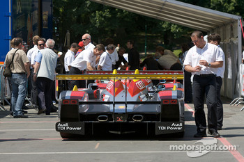 #2 Audi Sport North America Audi R10 at scrutineering