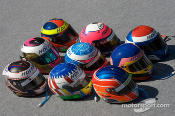 Team Peugeot Total drivers helmets