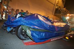 #16 Pescarolo Sport Pescarolo Judd after the crash of Romain Dumas