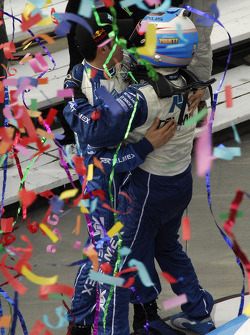 Scott Pruett and Memo Rojas celebrate