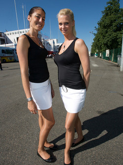 The charming paddock hostesses