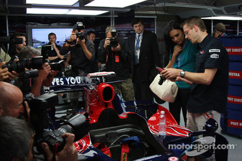 Miss France with Sébastien Bourdais, Scuderia Toro Rosso