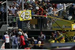 Bobby Labonte's pit board
