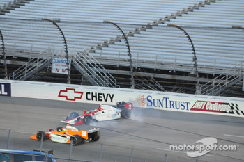 A.J. Foyt IV about to hit the wall