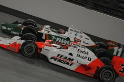 Helio Castroneves challenges Tony Kanaan