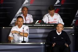 Martin Whitmarsh, McLaren, Chief Executive Officer, John Howett, Toyota Racing, President TMG, Ross Brawn Team Principal, Honda Racing F1 Team, Sir Frank Williams, WilliamsF1 Team, Team Chief, Managing Director, Team Principal