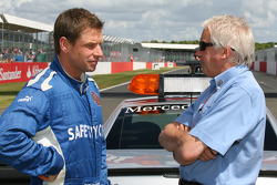 Bernd Maylander, FIA F1 and GP2 safety car driver and Charlie Whiting, FIA Safty delegate, Race director and offical starter