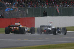 Fernando Alonso, Renault F1 Team, R28 and Nick Heidfeld, BMW Sauber F1 Team, F1.08