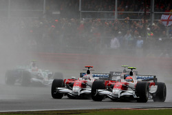 Timo Glock, Toyota F1 Team, TF108 and Jarno Trulli, Toyota Racing, TF108