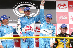 GT1 podum: class and overall winners Karl Wendlinger and Ryan Sharp