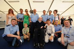 Frank Williams and guest