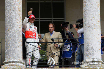 Lewis Hamilton, McLaren Mercedes on the balcony of Goodwood house