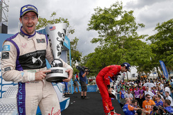 Podium: second place Sam Bird, DS Virgin Racing Formula E Team