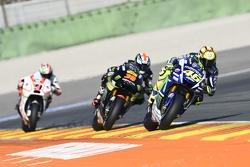 Valentino Rossi, Yamaha Factory Racing and Bradley Smith, Tech 3 Yamaha and Danilo Petrucci, Pramac Racing Ducati