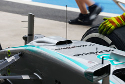 Mercedes AMG F1 W06 with a duct on the nosecone