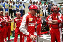 Kimi Raikkonen, Ferrari on the grid