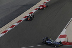 Jimmy Eriksson, Koiranen GP leads Luca Ghiotto, Trident and Emil Bernstorff, Arden International