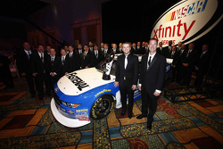 2015 Xfinity Series champion Chris Buescher with the Roush Fenway Racing team