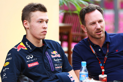 Daniil Kvyat, Red Bull Racing met Christian Horner, Red Bull Racing-teambaas