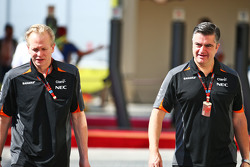 (L to R): Andrew Green, Sahara Force India F1 Team Technical Director with Andy Stevenson, Sahara Force India F1 Team Manager