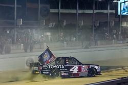 NASCAR Camping World Truck Series 2015 champion Erik Jones, Kyle Busch Motorsports celebrates