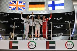 The podium: Race winner Nico Rosberg, Mercedes AMG F1 Team, second place Lewis Hamilton, Mercedes AMG F1 Team, third place Kimi Raikkonen, Ferrari