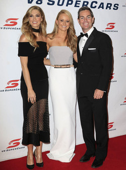 Craig Lowndes, Triple Eight Race Engineering Holden with partner Lara McDonald and Delta Goodrem