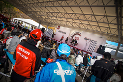 Drivers speak to fans at Nismo Festival