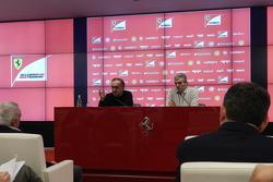 Sergio Marchionne, Ferrari President and CEO of Fiat Chrysler Automobiles with Maurizio Arrivabene, Team Principal Scuderia Ferrari