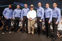 Darrell Wallace Jr., Ryan Reed, Chris Buescher, Jack Roush, Trevor Bayne, Ricky Stenhouse Jr., Greg Biffle, Roush Fenway Racing Ford