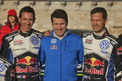 Podium: winners Sébastien Ogier, Julien Ingrassia, Volkswagen Motorsport with Francois-Xavier Demaison