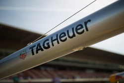 Tag Heuer branding on the Red Bull Racing pit equipment