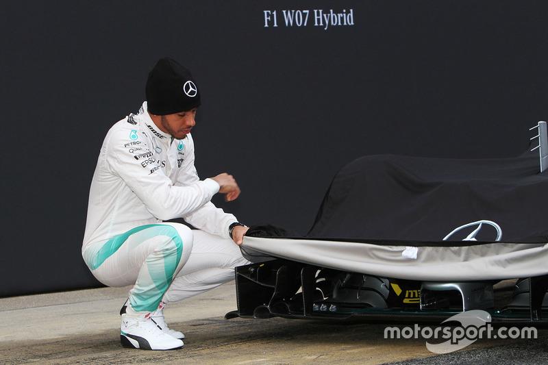 Lewis Hamilton, Mercedes AMG F1 unveils the Mercedes AMG F1 W07 Hybrid