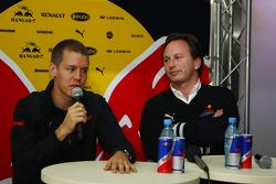 Sebastian Vettel, Scuderia Toro Rosso and Christian Horner, Red Bull Racing, Sporting Director