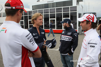 Adrian Sutil, Force India F1 Team with Nico Rosberg, WilliamsF1 Team, Nick Heidfeld, BMW Sauber F1 Team and Timo Glock, Toyota F1 Team