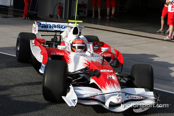 Timo Glock, Toyota F1 Team, slick tyres