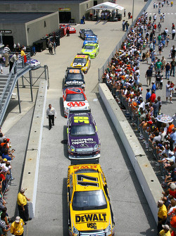Matt Kenseth leads the way to pitlane