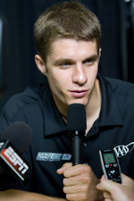 David Ragan during a press conference