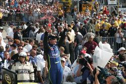 Victory circle: race winner Jimmie Johnson celebrates