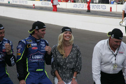 Chad Knaus, Jimmie Johnson and Chandra Johnson along with Rick Hendrick
